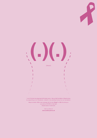 Breast Cancer Ad - Small Breasts by Robert Thomsen