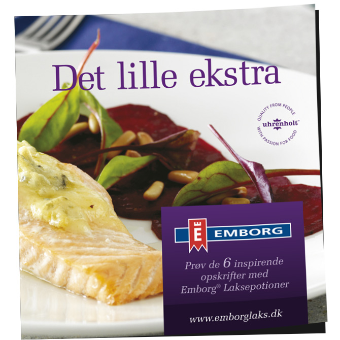 Emborg Laksepotioner Recipe brochure by Robert Thomsen